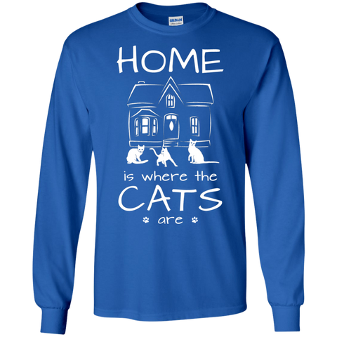 Home is Where the Cats Are LS Ultra Cotton T-Shirt