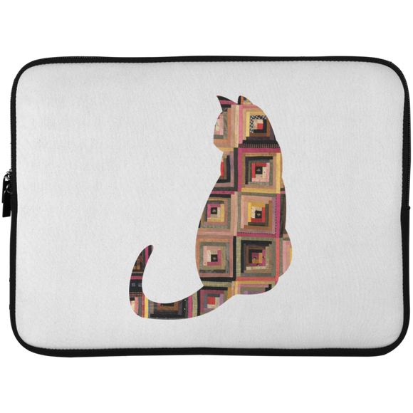 Log Cabin Cat Laptop Sleeve - 15 Inch