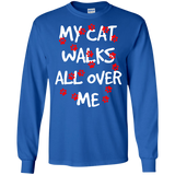 My Cat Walks All Over Me LS Ultra Cotton T-Shirt
