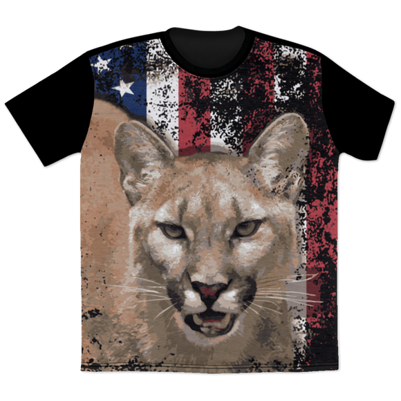 Cougar Flag All Over Print T-Shirt