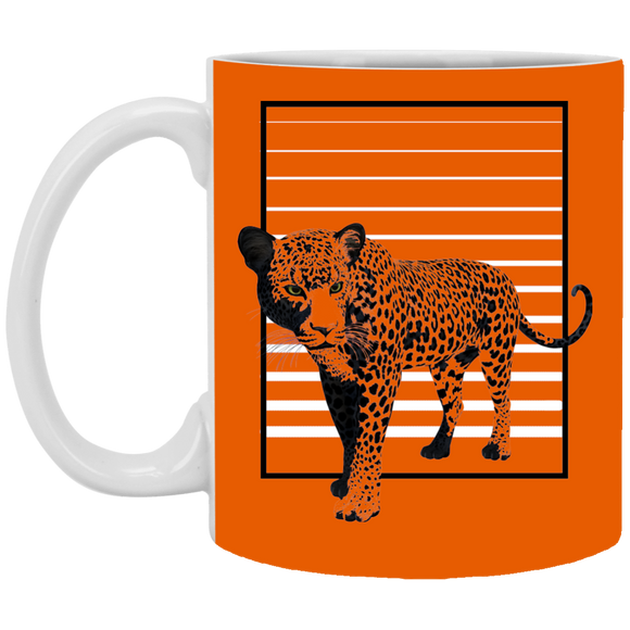 Black Panther Stripes White Mugs