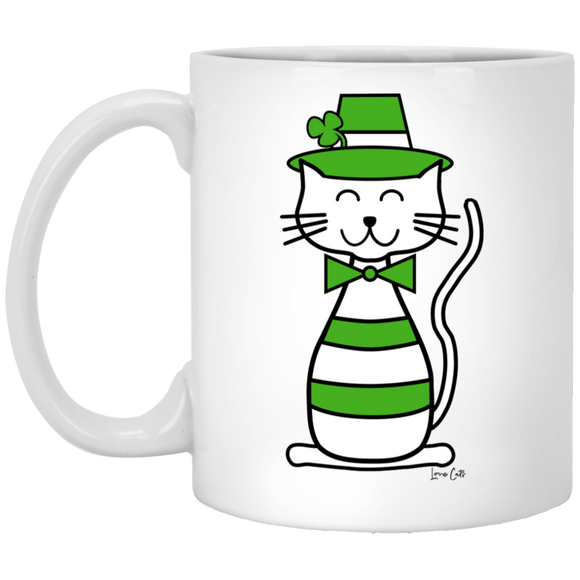 Leprecat White Mugs