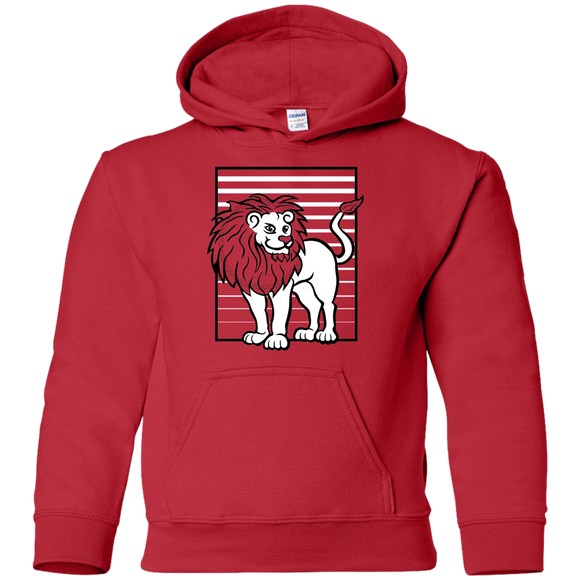Lion Stripes Youth Pullover Hoodie