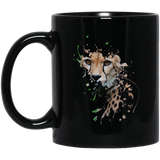 Disappearing Cheetah 11 and 15 oz Black Mugs