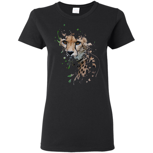 Disappearing Cheetah Ladies Cotton T-Shirt