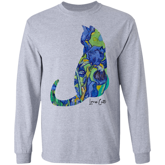 Iris Cat LS Ultra Cotton T-Shirt
