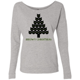 Meowy Christmas Tree Ladies Long Sleeve T-shirts