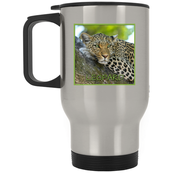 Leopard Square Stainless Steel Travel Mug