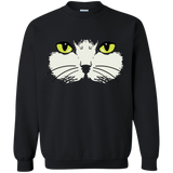 Gold Eyed Cat Face Crewneck Pullover Sweatshirt
