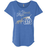 My Favorite People are Cats Ladies Triblend Dolman Sleeve