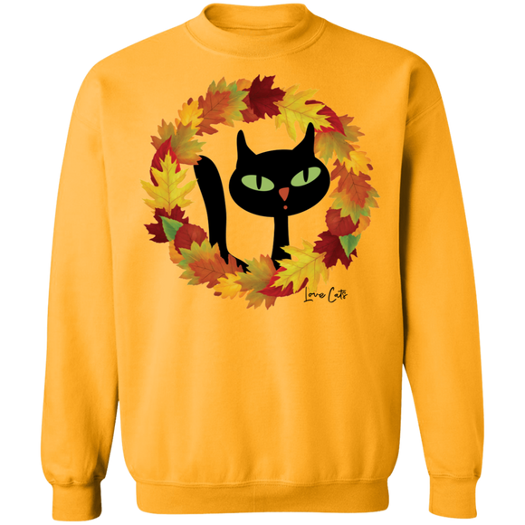 Victor in Fall Wreath Crewneck Pullover Sweatshirt