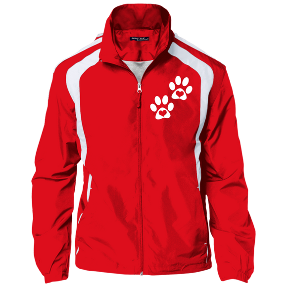 Heart Paw Print Jersey-Lined Jacket