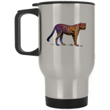 Colorful Cheetah Stainless Steel Travel Mug