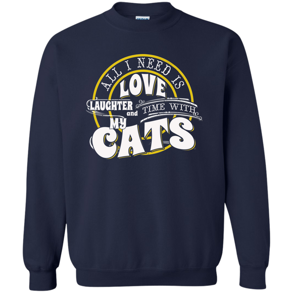 TIME with My Cats Crewneck Pullover Sweatshirt