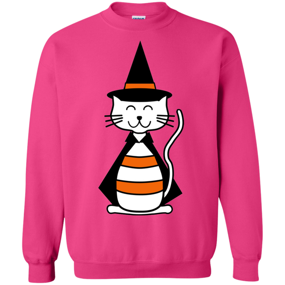 Witch Cat Crewneck Pullover Sweatshirt