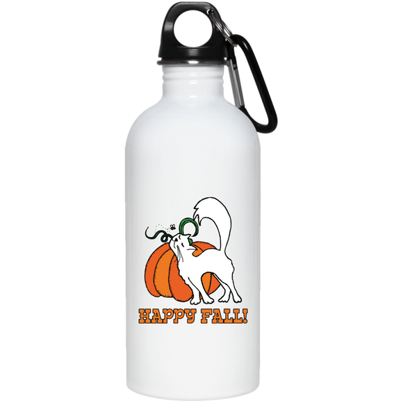 Happy Fall! 20 oz. Stainless Steel Water Bottle