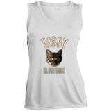 Tabby or Not Tabby Ladies Sleeveless Moisture Absorbing V-Neck
