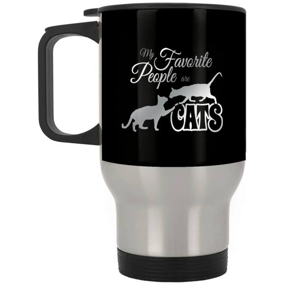 My Favorite People are Cats Stainless Steel Travel Mug