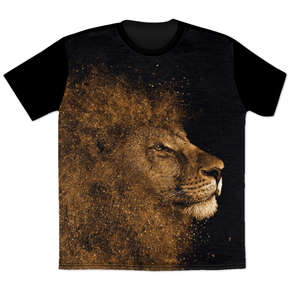 Lion Glitter All Over Print T-Shirt
