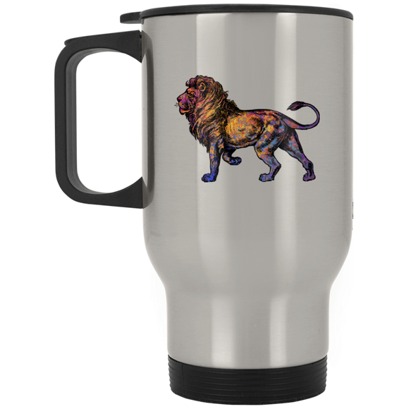 Colorful Lion Stainless Steel Travel Mug