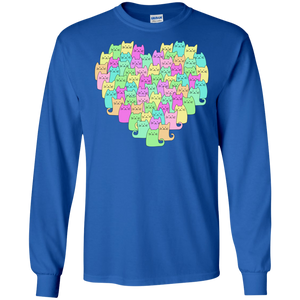 Heartful of Cats LS Ultra Cotton T-Shirt