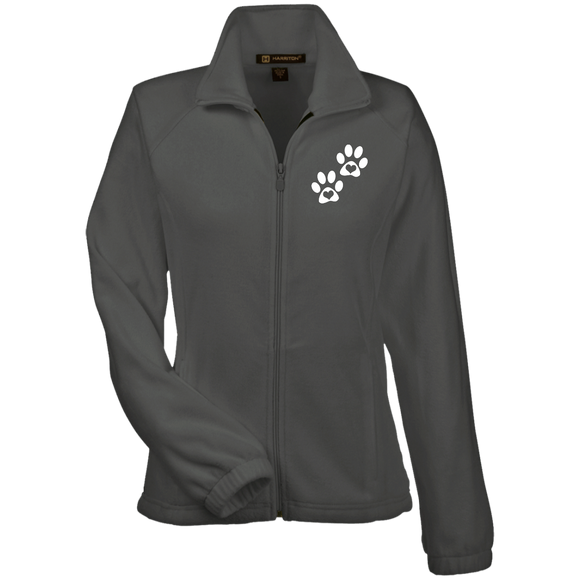 Heart Paw Print Women's Fleece Jacket