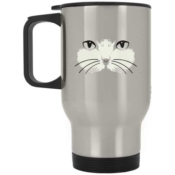 Cat Face Stainless Steel Travel Mug