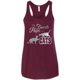 My Favorite People are Cats Flowy Racerback Tank