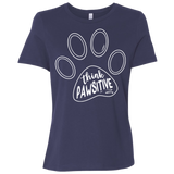 Think Pawsitive Ladies' Relaxed Jersey Short-Sleeve T-Shirt
