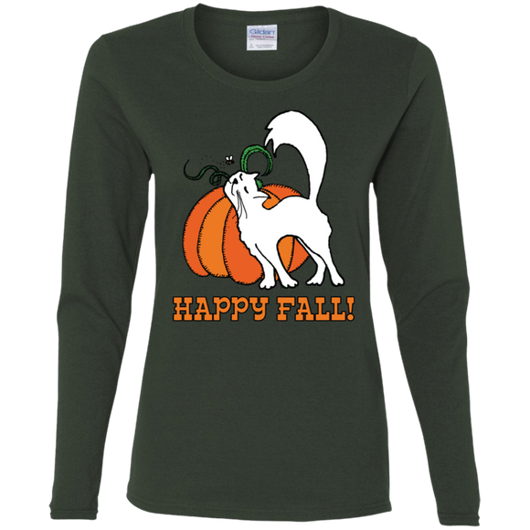 Happy Fall! Ladies Long Sleeve T-shirts