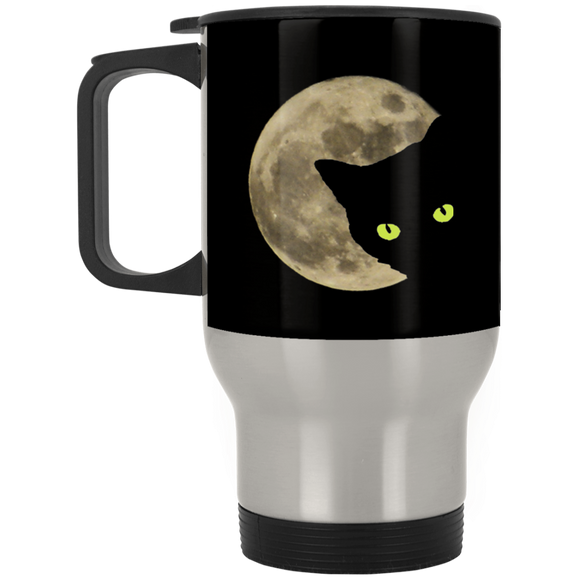 Moon Cat Stainless Steel Travel Mug