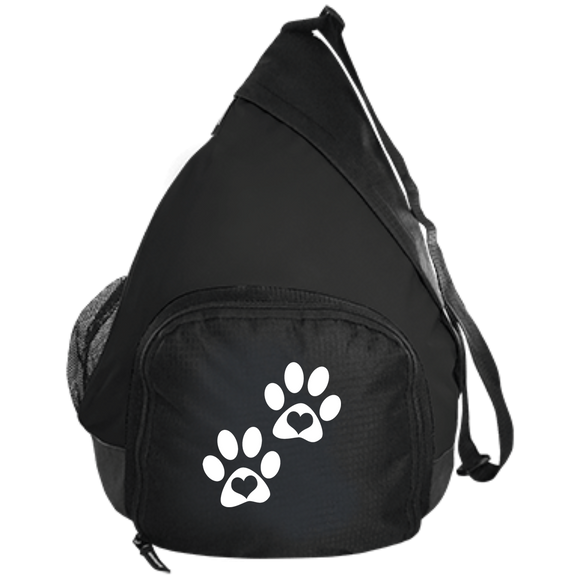 Heart Paw Print Active Sling Pack