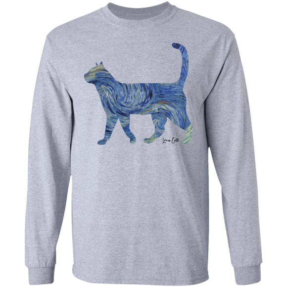 Starry Night Tabby LS Ultra Cotton T-Shirt