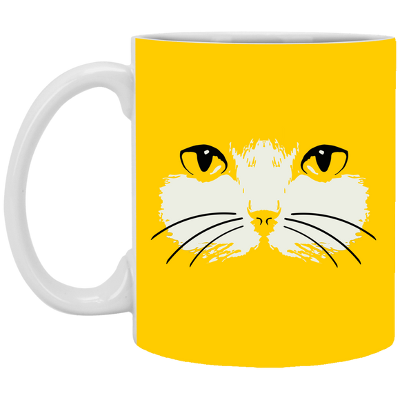 Cat Face White Mugs