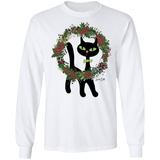 Victor in Christmas Wreath LS Ultra Cotton T-Shirt