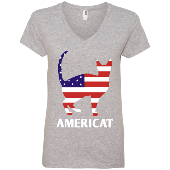Americat Ladies V-Neck T-Shirt