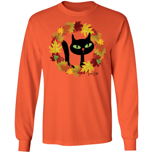 Victor in Fall Wreath LS Ultra Cotton T-Shirt