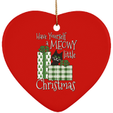 Meowy Little Christmas Ceramic Ornaments in 4 Shapes