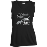 My Favorite People are Cats Ladies Sleeveless Moisture Absorbing V-Neck