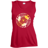Cat Triskelion Ladies Sleeveless Moisture Absorbing V-Neck