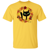 Victor in Fall Wreath Cotton T-Shirt