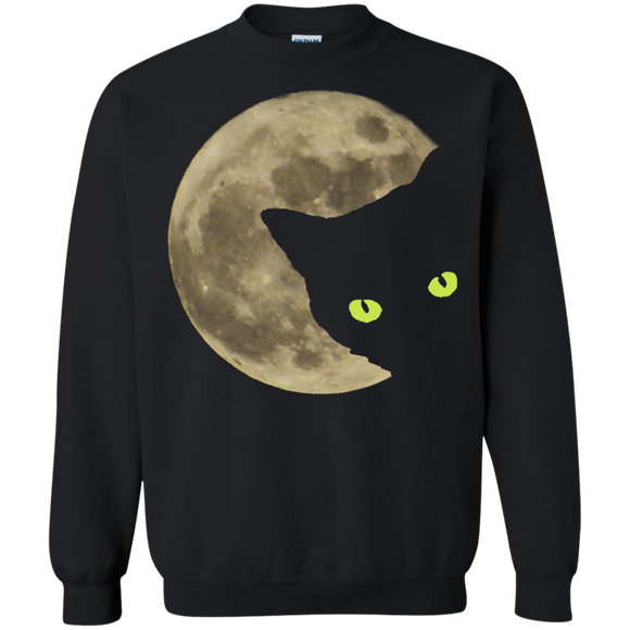 Moon Cat Crewneck Pullover Sweatshirt