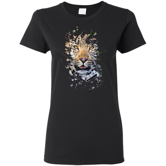 Disappearing Leopard Ladies Cotton T-Shirt