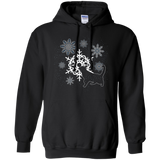 Cat and Snowflakes Pullover Hoodie