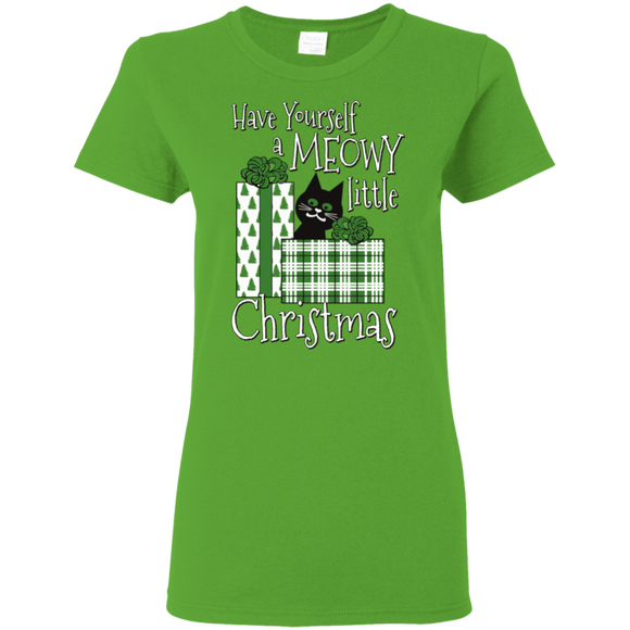 Meowy Little Christmas Ladies' T-Shirts
