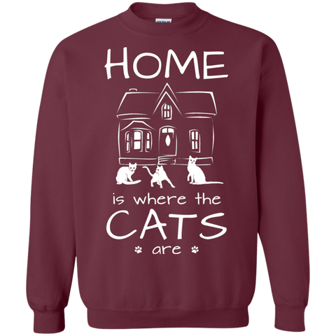Home is Where the Cats Are Crewneck Pullover Sweatshirt