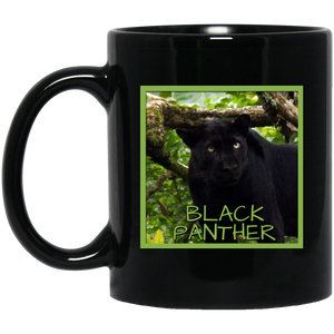 Black Panther Square 11 and 15 oz Black Mugs