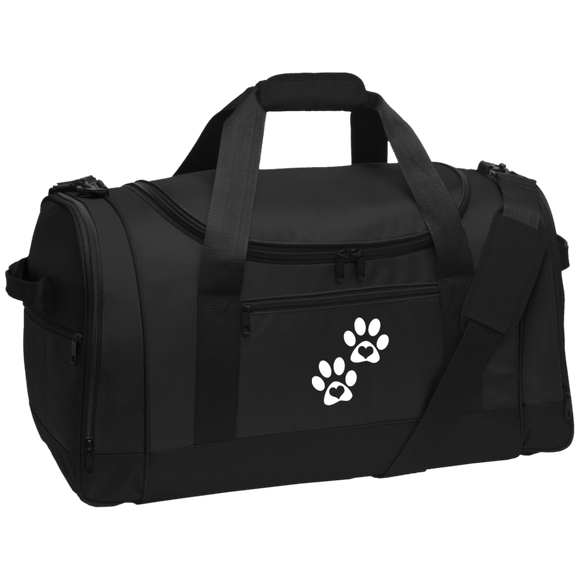 Heart Paw Print Travel Sports Duffel