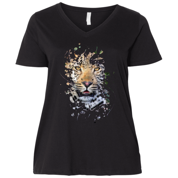 Disappearing Leopard Ladies Curvy T-Shirts