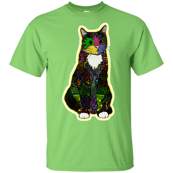 Colorful Tuxedo Cat Ultra Cotton T-Shirt